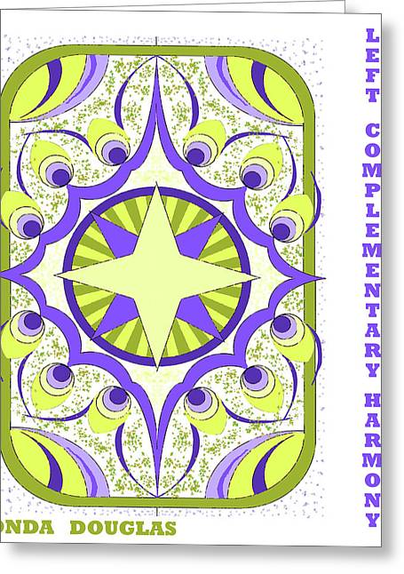 Left Complementary Harmony Greeting Card