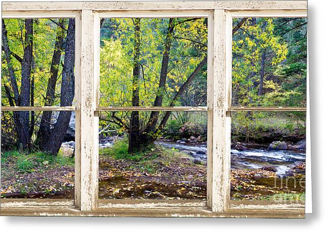 Left Hand Creek Rustic Window View Colorado Greeting Card by James BO  Insogna