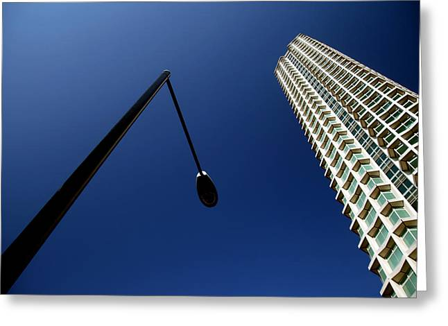 Left Of Centre Point Greeting Card by Jez C Self