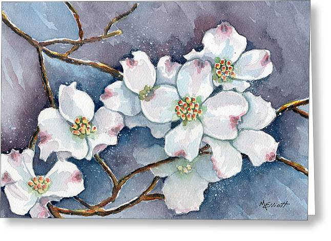 Legend Of The Dogwood Greeting Card by Marsha Elliott
