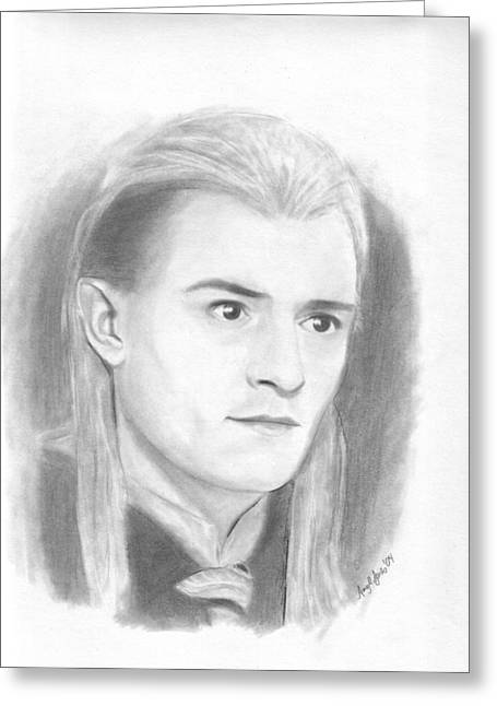 Legolas Greeting Card by Amy Jones