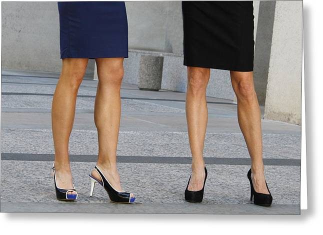 Legs Of Femininity Greeting Card by Capology Fare