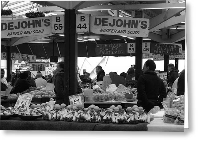 Leicester Market Greeting Card