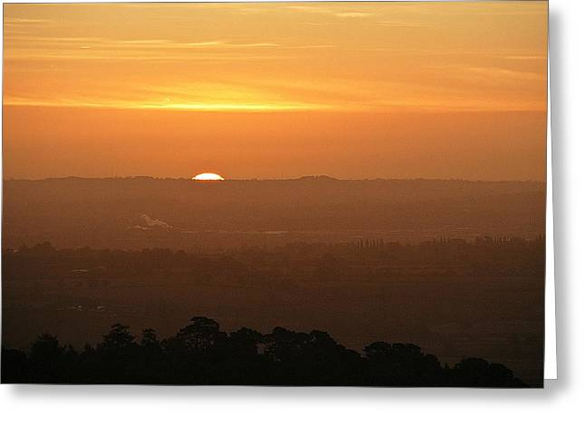 Greeting Card featuring the photograph Leicestershire Sunrise by Linsey Williams