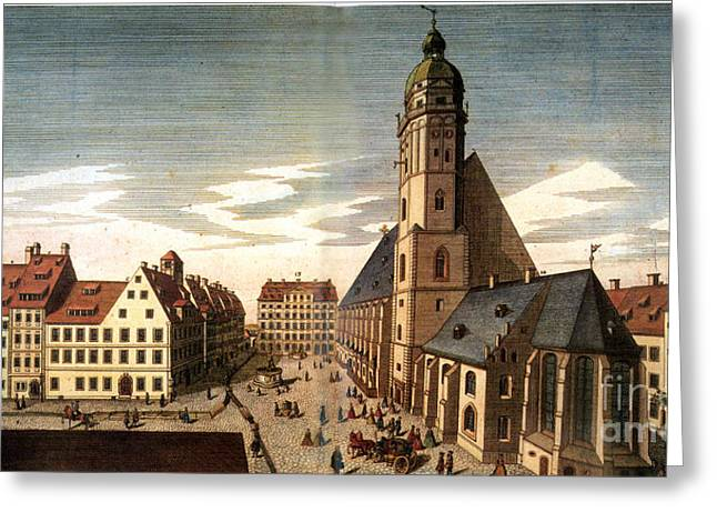 Leipzig: St. Thomas Church Greeting Card by Granger