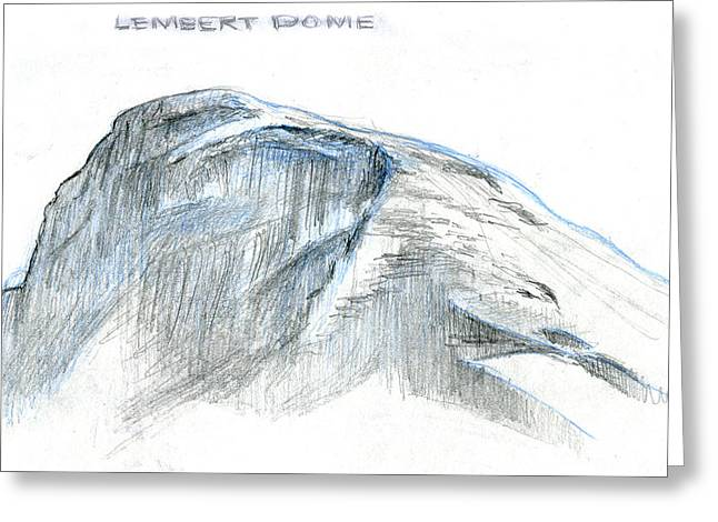 Lembert Dome At Noon Greeting Card by Logan Parsons