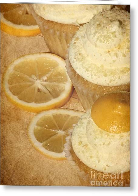 Lemon Cupcakes Greeting Card by Sophie Vigneault