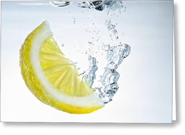 Lemon Water Greeting Card by Silvio Schoisswohl