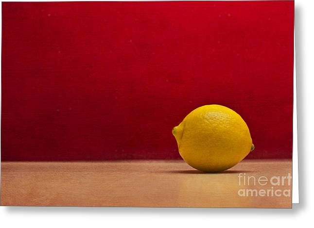 Lemon Yellow And Tomatoe Red Greeting Card by Catherine MacBride