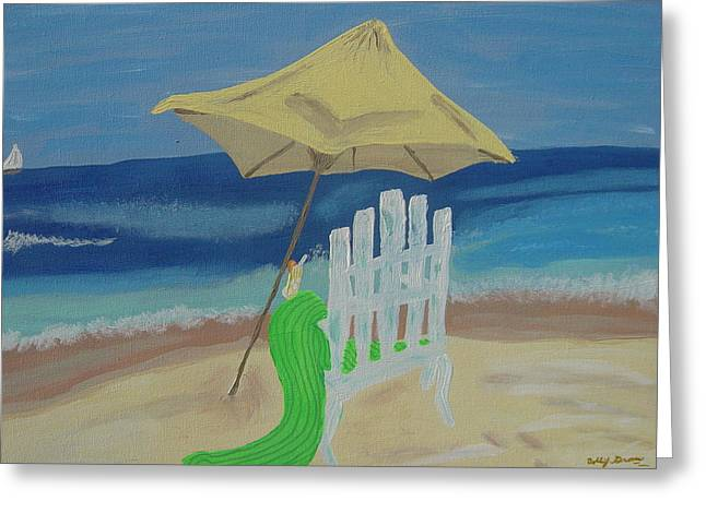 Lemonade On The Beach Greeting Card by Bobbi Groves