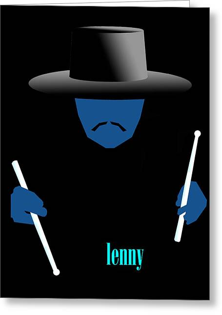 Lenny Blue Greeting Card by Victor Bailey