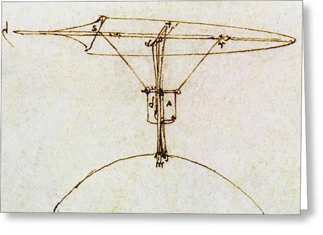 Leonardo's Kite Glider Greeting Card