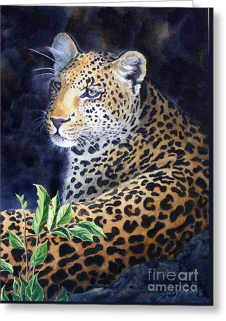 Leopard  Sold  Prints Available Greeting Card