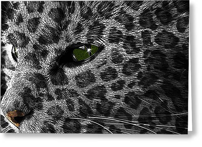 Leopard Within Greeting Card
