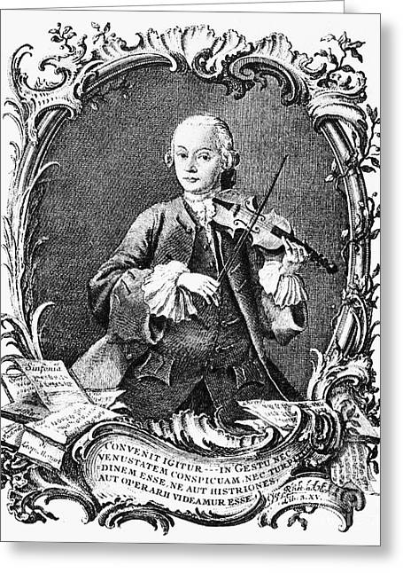 Leopold Mozart (1719-1787) Greeting Card by Granger