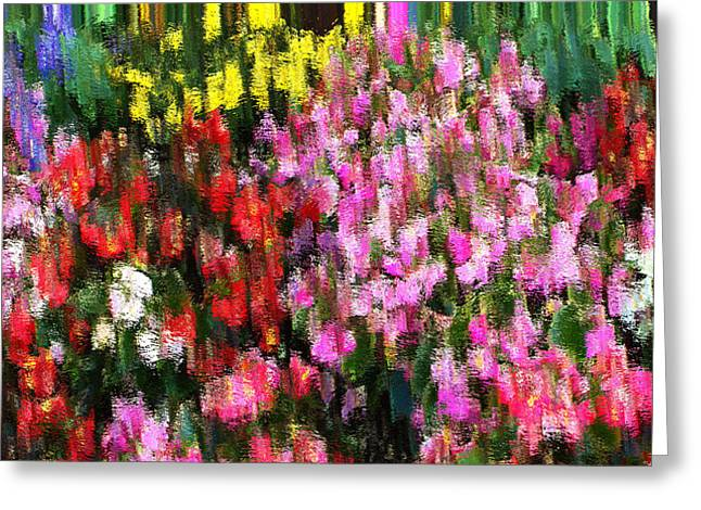 Les Fleurs Greeting Card by Terence Morrissey