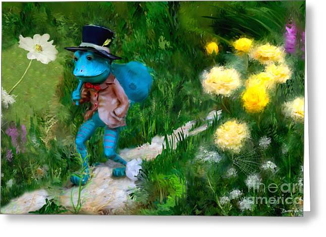 Greeting Card featuring the digital art Lessons In Lifes Garden by Dwayne Glapion