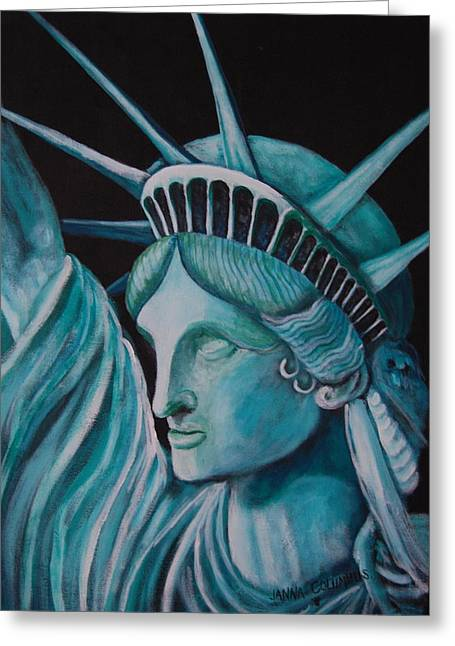 Let Freedom Ring Greeting Card by Janna Columbus