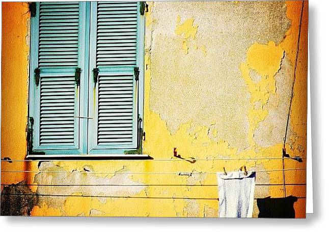 Let It All Hang Out #italy #wall Greeting Card by A Rey
