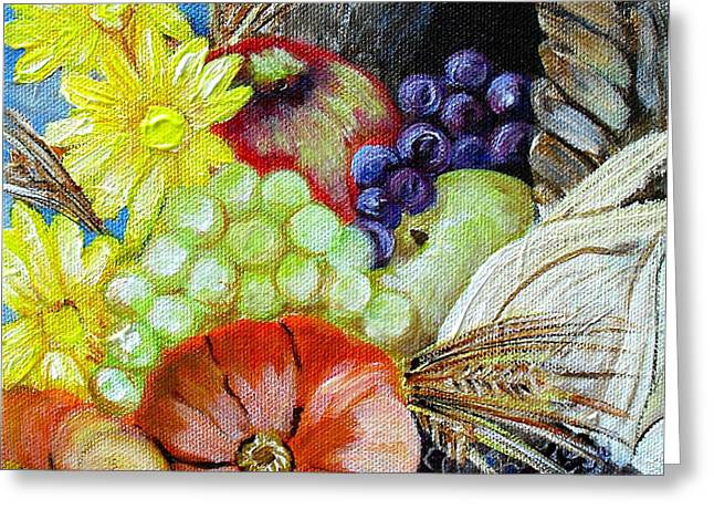 Let Us Give Thanks Greeting Card by Melissa Torres