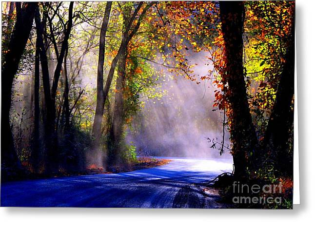 Let Your Light Shine Down On Me Greeting Card by Carolyn Wright