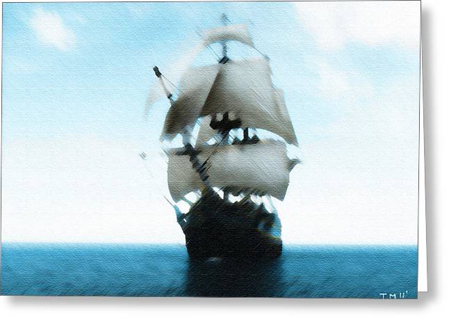 Let's Sail Away Greeting Card by Tyler Martin