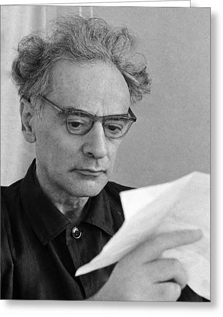 Lev Landau, Soviet Physicist Greeting Card by Ria Novosti