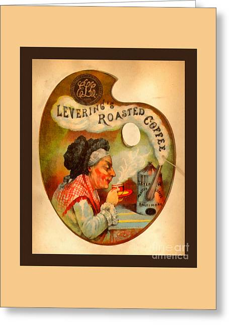 Levering's Roasted Coffee Greeting Card by Anne Kitzman
