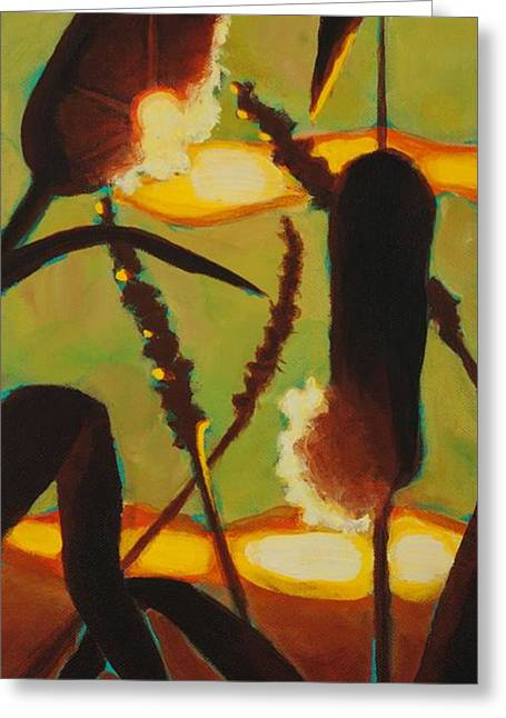 Greeting Card featuring the painting Levity Of Light by Janet McDonald