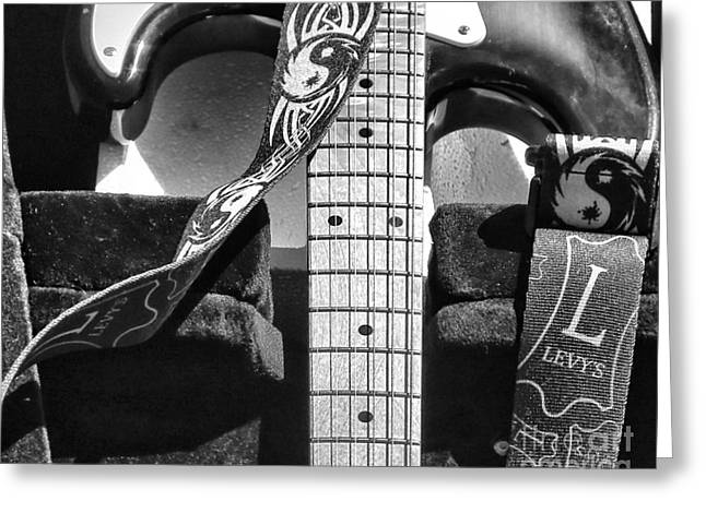 Levys Guitar IIi Bw Greeting Card