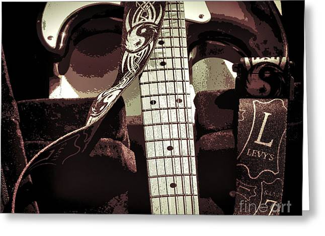 Levys Guitar IIi Greeting Card by Chuck Kuhn