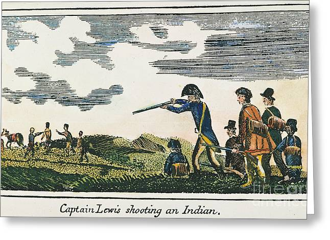 Lewis & Clark: Native American, 1811 Greeting Card by Granger