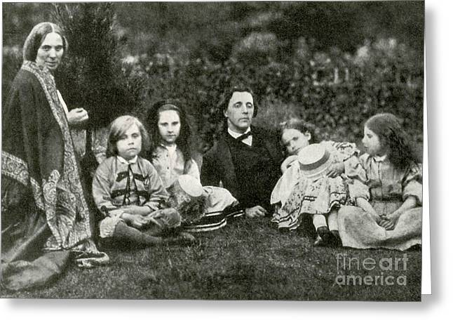 Lewis Carroll, Mrs. George Macdonald & Greeting Card by Photo Researchers
