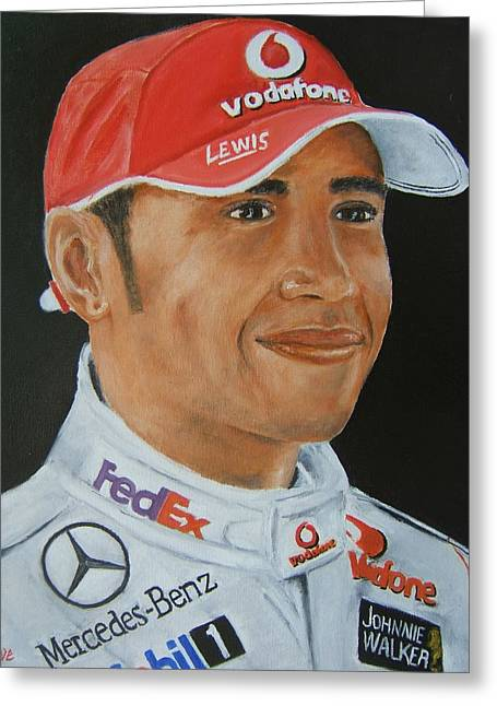 Lewis Hamilton Greeting Card