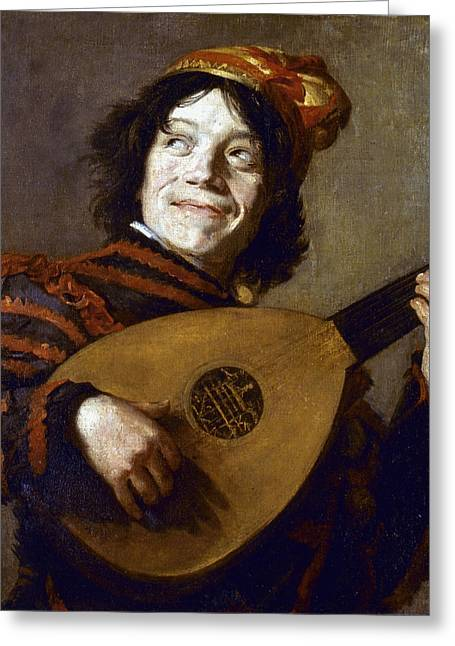 Leyster: The Jester Greeting Card by Granger