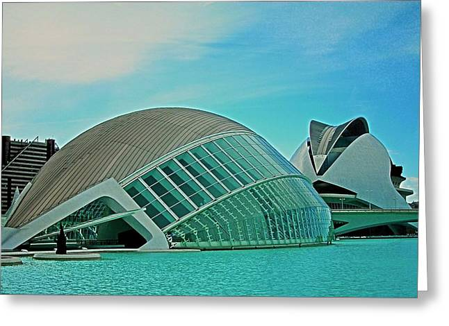 L'hemisferic - Valencia Greeting Card by Juergen Weiss