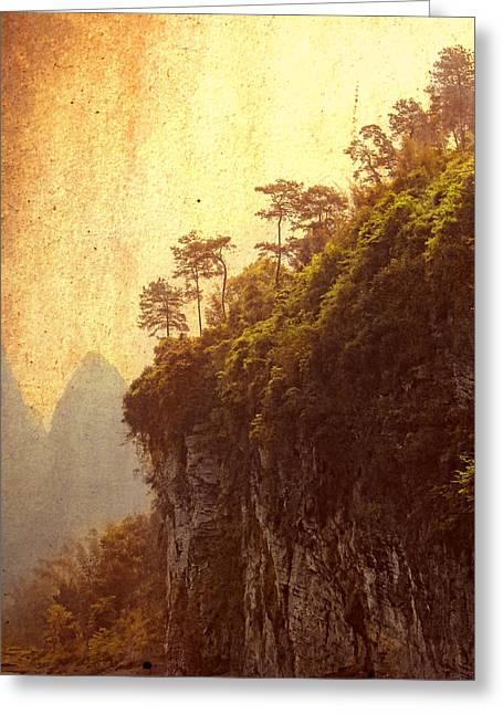 Li River Mountainside Greeting Card