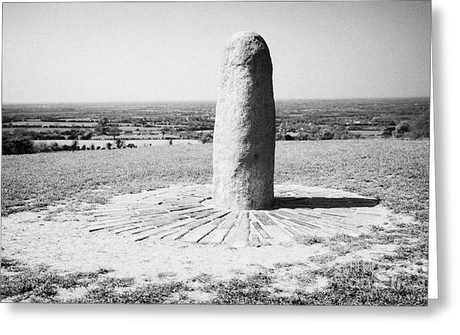 Lia Fail Stone Of Destiny Hill Of Tara Ireland Greeting Card by Joe Fox