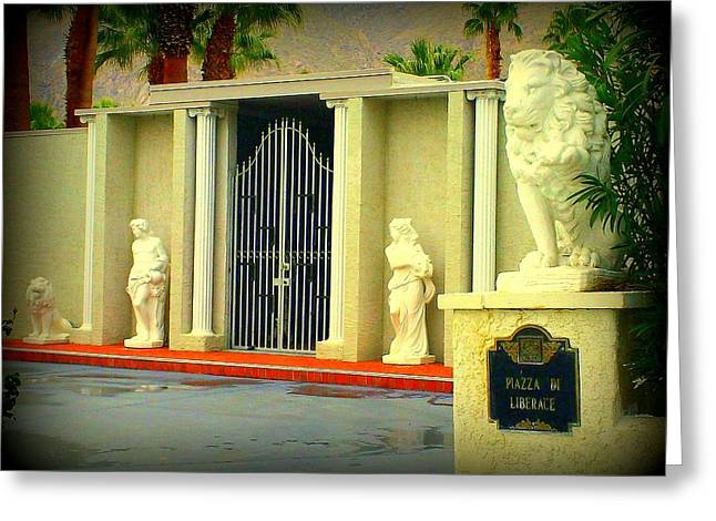 Liberace Residence Greeting Card by Randall Weidner