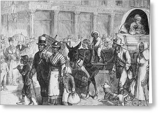 Liberated Slaves, 1861 Greeting Card