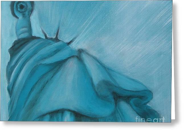 Greeting Card featuring the painting Liberty by Annemeet Hasidi- van der Leij