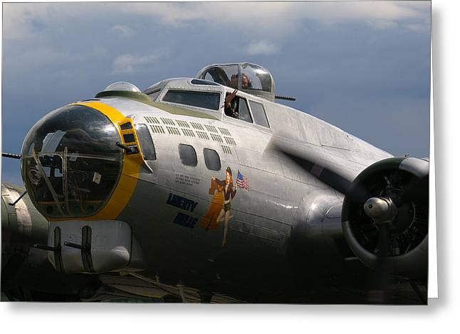 Liberty Belle B17 Bomber Greeting Card by Ken Brannen
