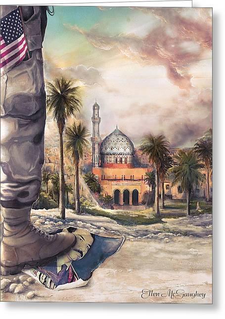 Liberty Greeting Card by Ellen Mcgaughey