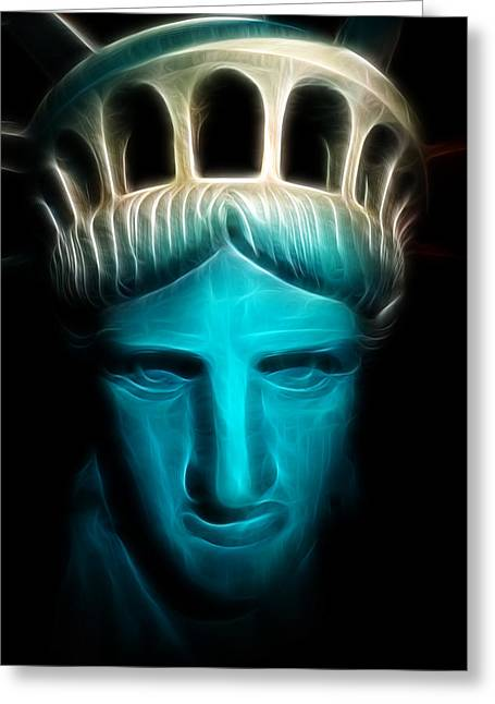 Liberty Enlightening The World - Statue Of Liberty - Usa - America Greeting Card