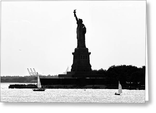 Liberty Island Greeting Card by Artistic Photos