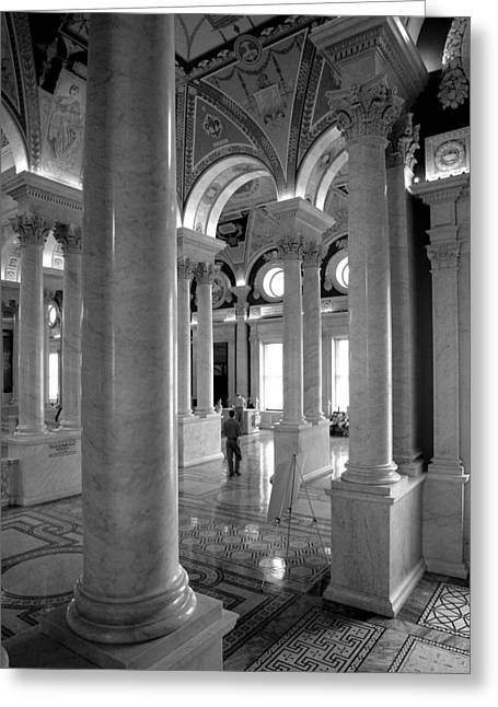 Library Of Congress Greeting Card by Steven Ainsworth