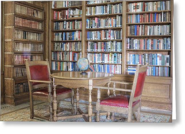 Residential Structure Greeting Cards - Library With Table And Chairs Greeting Card by Douglas Orton