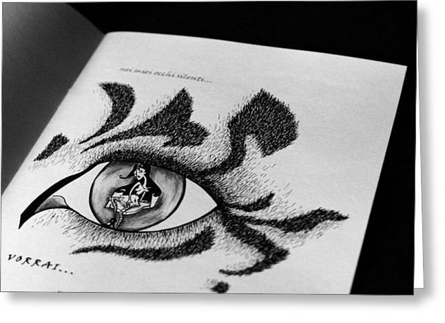 Libro Di Artista Greeting Card by Arte Venezia