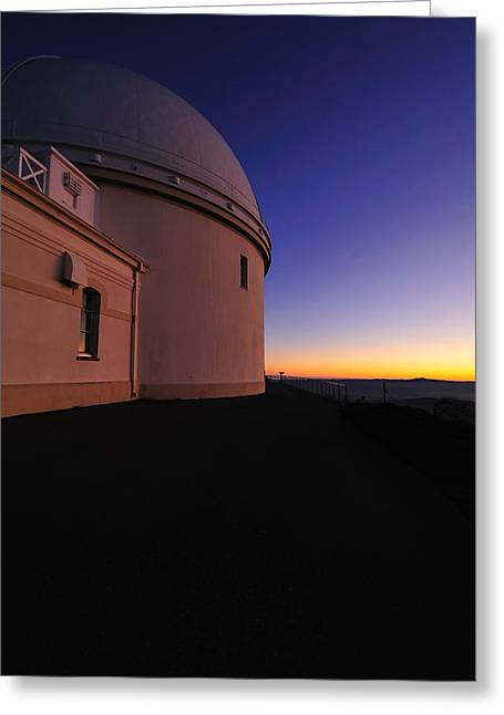 Lick Observatory Greeting Card by Richard Leon