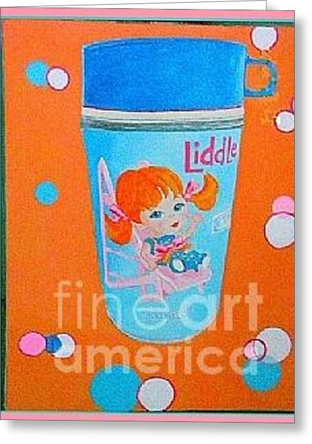 Greeting Card featuring the painting Nostalgia Little Sliddle by Beth Saffer